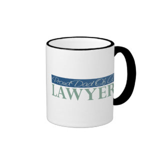 Papá orgulloso de un abogado taza de café