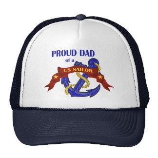 Papá orgulloso de un marinero de los E.E.U.U. Gorra