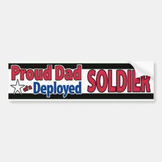 Papá orgulloso de un soldado desplegado pegatina para auto