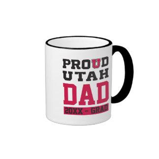 Papá orgulloso de Utah - año del graduado Taza De Dos Colores
