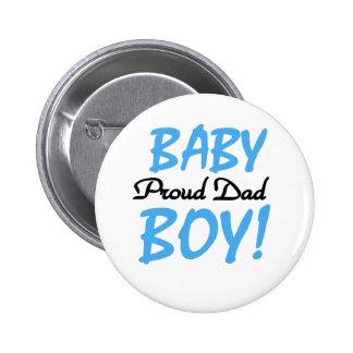 Papá orgulloso del bebé pin redondo de 2 pulgadas