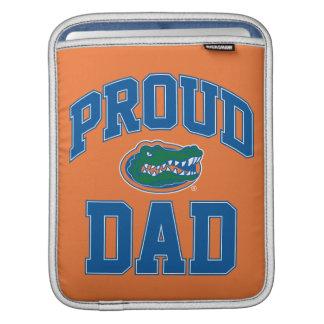 Papá orgulloso del cocodrilo mangas de iPad