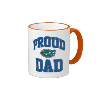 Papá orgulloso del cocodrilo taza a dos colores