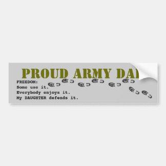 PAPÁ orgulloso del ejército Etiqueta De Parachoque