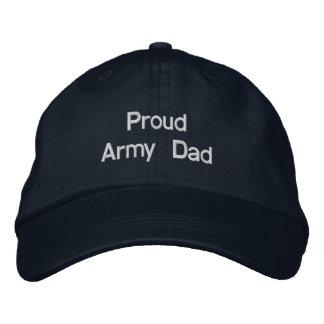 Papá orgulloso del ejército gorras de beisbol bordadas