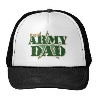 Papá orgulloso del ejército gorros