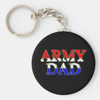 Papá orgulloso del ejército llaveros