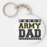 Papá orgulloso del ejército llaveros personalizados