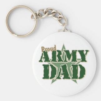 Papá orgulloso del ejército llavero redondo tipo pin