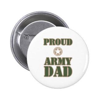 Papá orgulloso del ejército pin redondo de 2 pulgadas