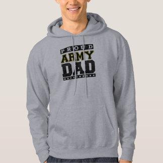 Papá orgulloso del ejército sudadera encapuchada