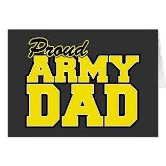 Papá orgulloso del ejército tarjeta de felicitación