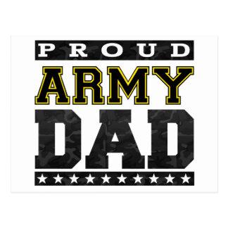 Papá orgulloso del ejército tarjeta postal