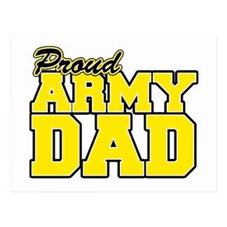 Papá orgulloso del ejército tarjetas postales