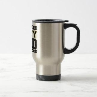 Papá orgulloso del ejército taza de café