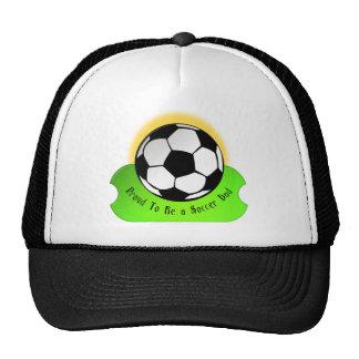 Papá orgulloso del fútbol gorros bordados
