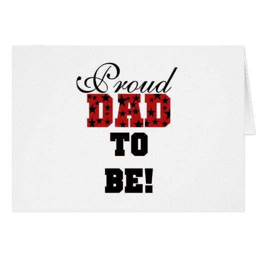 Papá orgulloso rojo y negro a ser camisetas y rega tarjetas