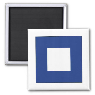 Papa (P) Signal Flag 2 Inch Square Magnet