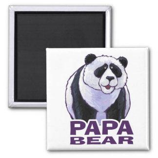 Papa Panda Bear 2 Inch Square Magnet