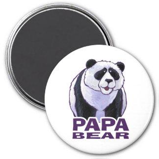 Papa Panda Bear 3 Inch Round Magnet