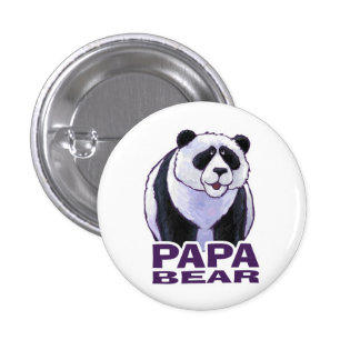 Papa Panda Bear Button