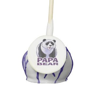 Papa Panda Bear Cake Pops