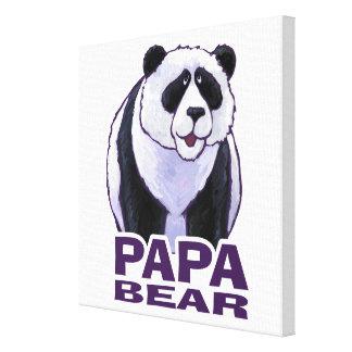Papa Panda Bear Canvas Print