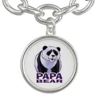 Papa Panda Bear Charm Bracelets