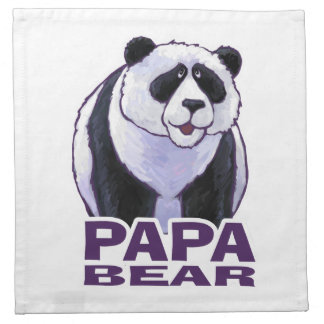 Papa Panda Bear Cloth Napkin