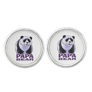 Papa Panda Bear Cufflinks