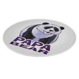 Papa Panda Bear Cutting Board