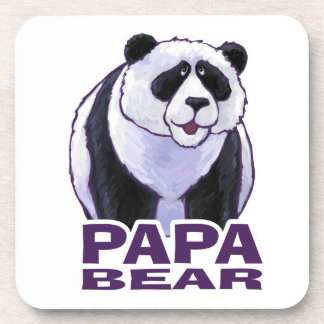 Papa Panda Bear Drink Coaster
