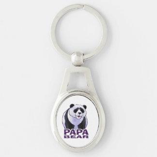 Papa Panda Bear Keychain