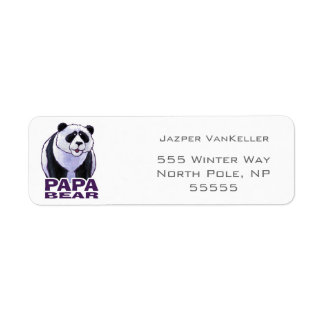Papa Panda Bear Label