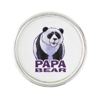 Papa Panda Bear Lapel Pin