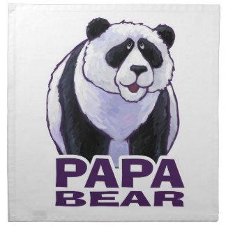 Papa Panda Bear Napkin