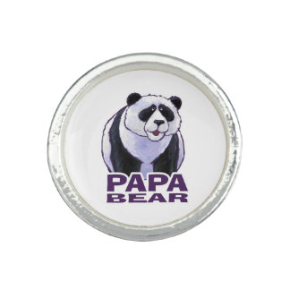 Papa Panda Bear Photo Ring
