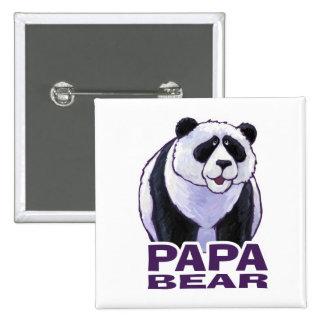 Papa Panda Bear Pinback Button