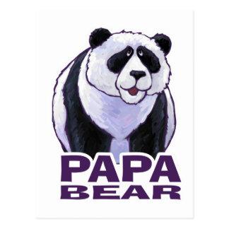Papa Panda Bear Postcard