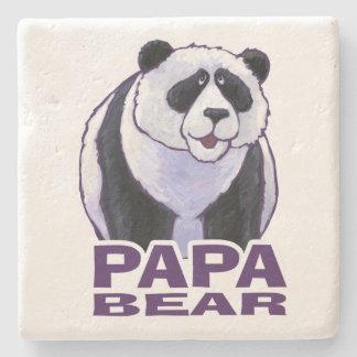 Papa Panda Bear Stone Coaster