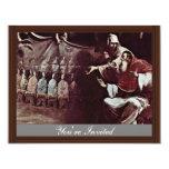 Papa Paul Iii. inspirado por la fe en el ecuménico Invitación 10,8 X 13,9 Cm