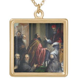 Papa Paulo IV que entrega un estatuto Colgante Cuadrado