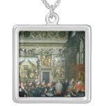 Papa Paulo V con una audiencia, 1620 Colgante Cuadrado