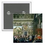 Papa Paulo V con una audiencia, 1620 Pin Cuadrado