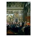 Papa Paulo V con una audiencia, 1620 Tarjeta De Felicitación