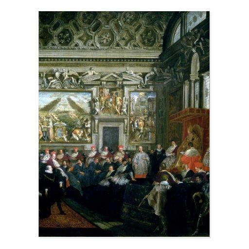 Papa Paulo V con una audiencia, 1620 Tarjetas Postales