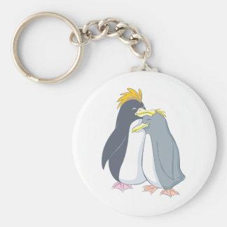 Papa Penguin Loves Mama Penguin Keychain