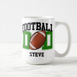 Papá personalizado del fútbol (verde) taza