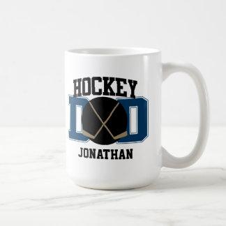 Papá personalizado del hockey (AZUL) Tazas De Café