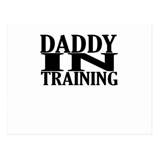 Papá personalizado en el entrenamiento de tarjetas postales